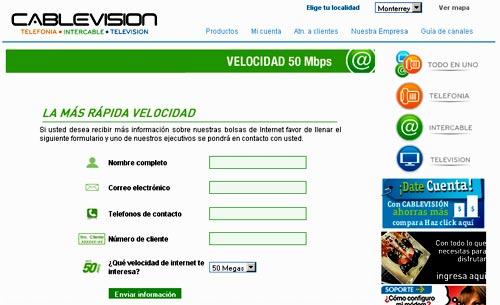 Internet de cablevision de Monterrey