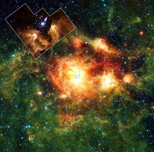 Nube cosmica en el universo