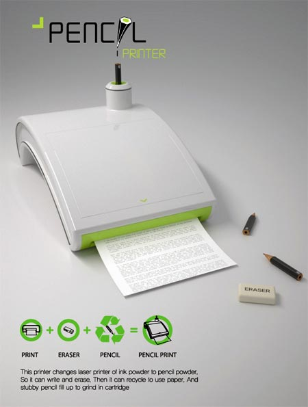 Impresora que imprime con lapices