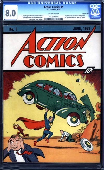 El primer comic de Superman