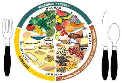 Porciones de comida balanceada