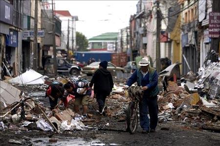 Escombros en Chile despues del terremoto