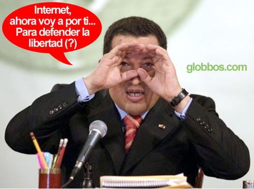 hugo chavez vs internet, quiere regular la red
