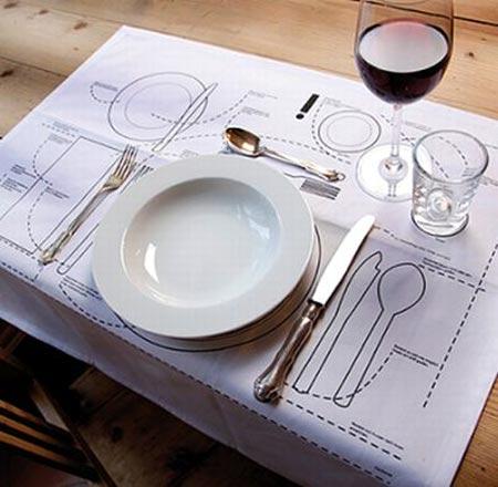 manteles educativos con información valiosa para colocar la mesa