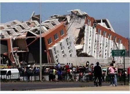 Casa destruida por el terremoto en Chile