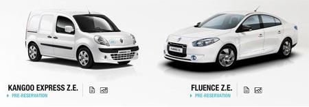 Nuevos autos Renault Fluence Z.E. sedan y Kangoo Z.E. van