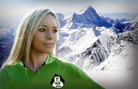 Bonita Norris fotografiada en el Everest