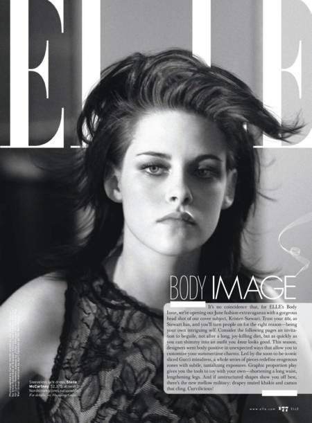 Kristen Stewart con un look rebelde y chic