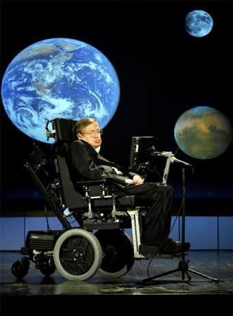 Stephen Hawking dando una conferencia