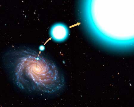 Estrella escapando de la galaxia captada por el telescopio Hubble