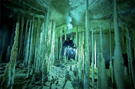Grutas submarinas en las Bahamas