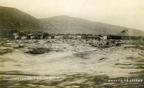 Imagen de inundación en Monterrey el 28 de agosto 1909