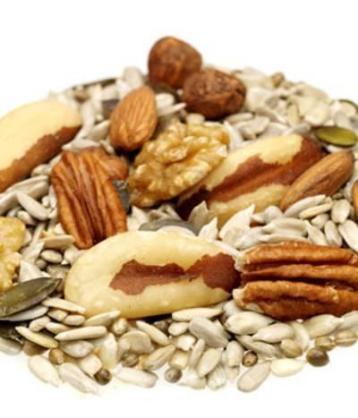 Variedad de nueces y semillas