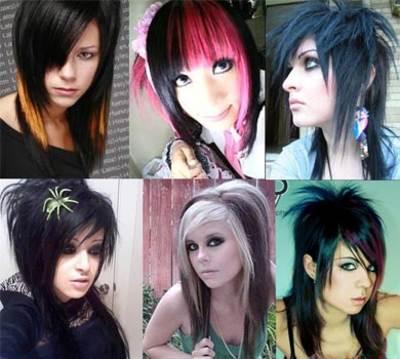 Peinados emo para chicas