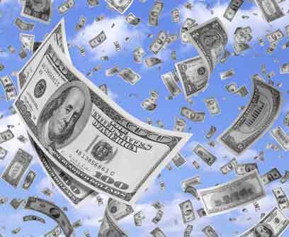 dinero volando