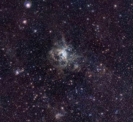Nebula tarantula en una galaxia cercana