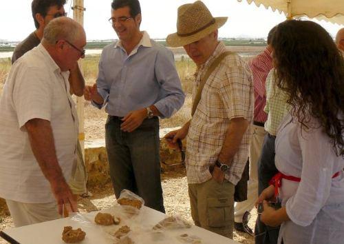 Imagen que muestra parte de los restos fósiles encontrados
