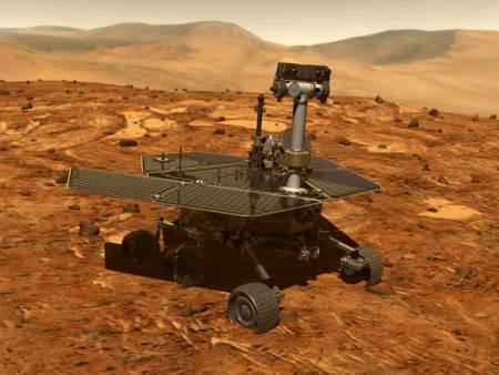 Rover Spirit en la superficie de Marte