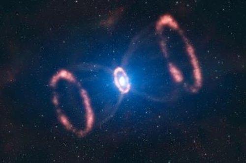 Imagen de la supernova SN-1987A en el momento de su explosión