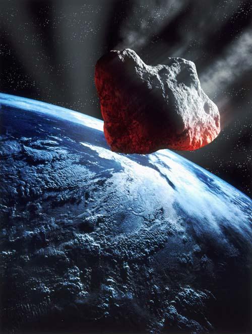 metreorito quemandose en el espacio