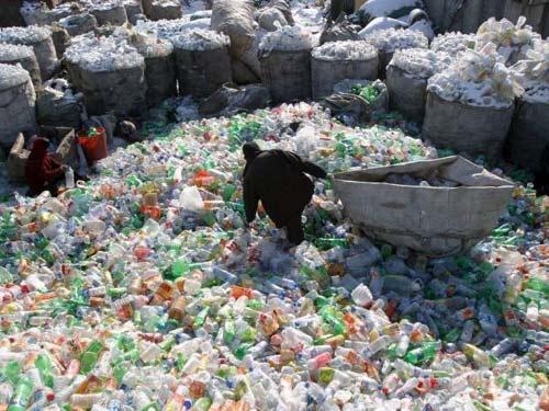 basurero de plastico