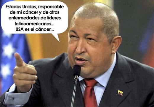 Hugo Chávez culpa a Estados Unidos por padecer cáncer y por otros políticos enfermos