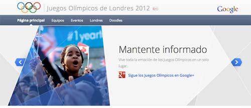 Noticias de las Olimpiadas por Google
