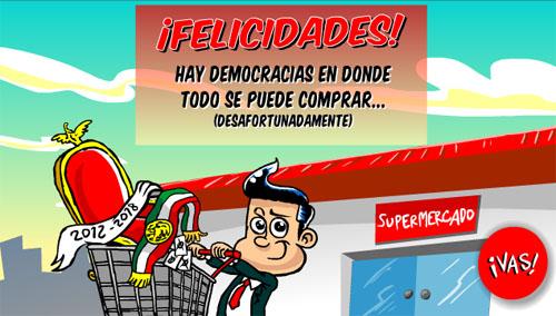 Compra de votos para que Peña Nieto gane la presidencia