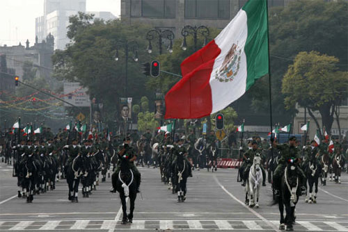 Desfile militar mexicano