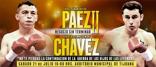 Omar Chávez Jr pide revancha contra Jorge Maromerito Paez Jr quien lo derrota