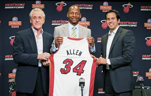 Ray Allen Firma con Miami Heat para la temporada 2012 de la NBA
