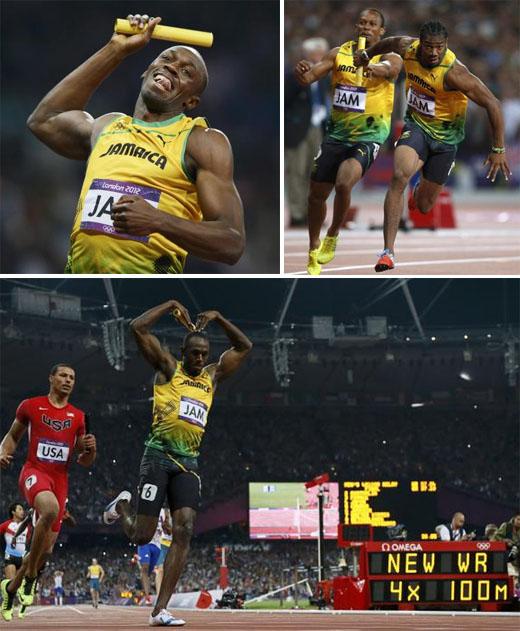 Equipo de relevos de Jamaica ganó la medalla de oro