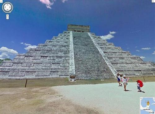 Piramides Mayas en Google Street View
