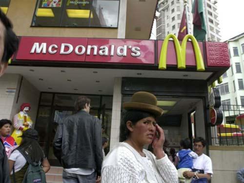 McDonalds y Coca Cola cierran en Bolivia