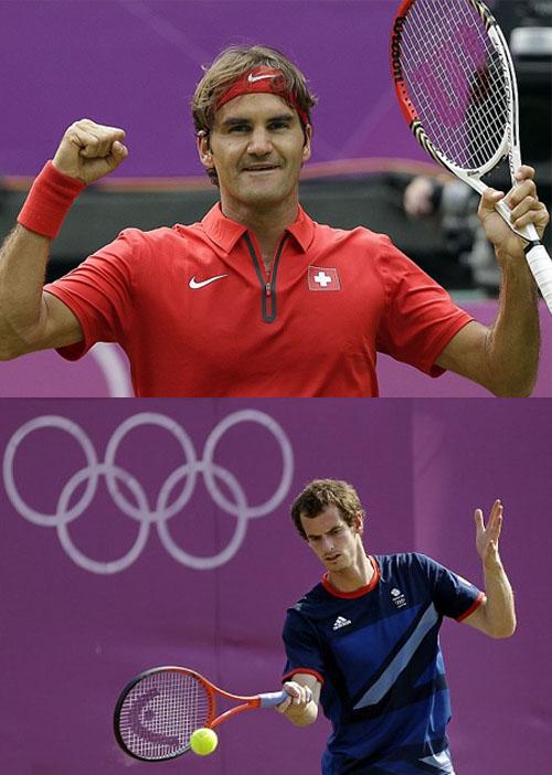Federer y Djokovic en olimpiadas de Londres 2012
