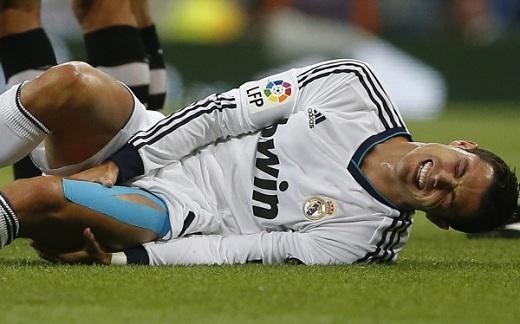 Cristiano Ronaldo sale lesionado de Partido