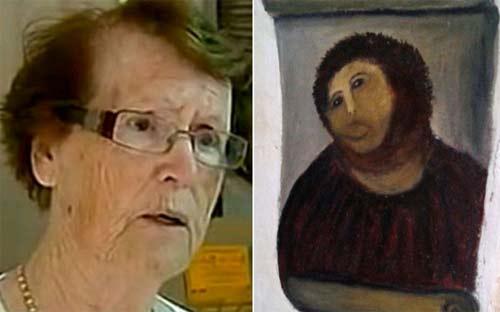 Anciana española arruina pintura de Ecce Homo