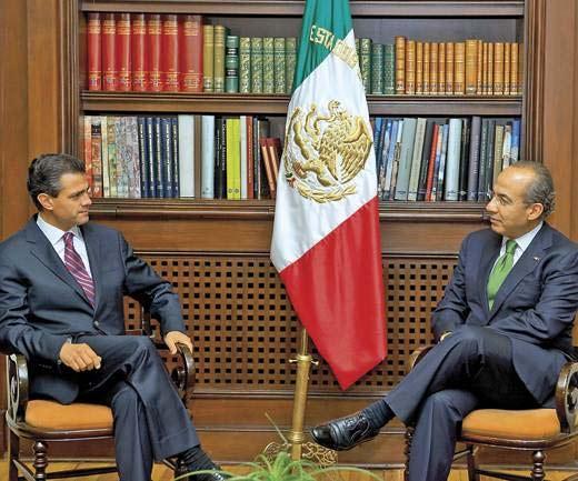 Presidente Calderón y Enrique Peña Nieto se reúnen para transición política