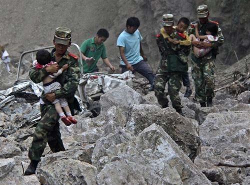 2 terremotos en China deja muertos y lesionados