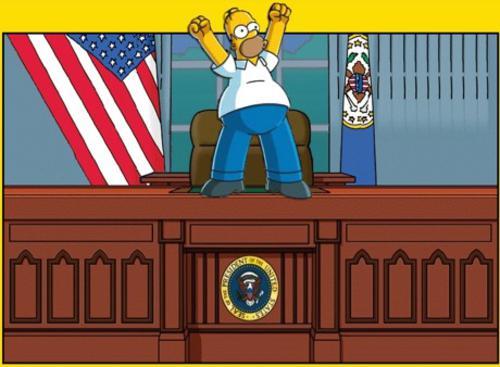 Homer Simpson presidente 2012