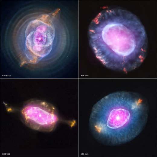 Telescopio Chandra recoge imágenes de nebulosas planetarias