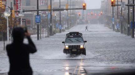 Evacuaciones por paso del huracán Sandy