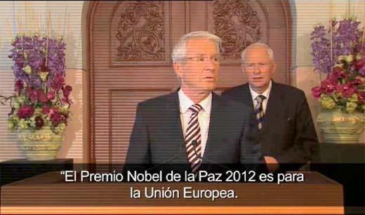 Unión Europea es galardonada con Nobel de la Paz