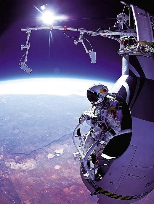 Felix Baumgartner caída libre desde estratósfera