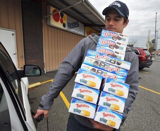 Comprador compulsivo de Twinkies por pánico de cierre de Hostess