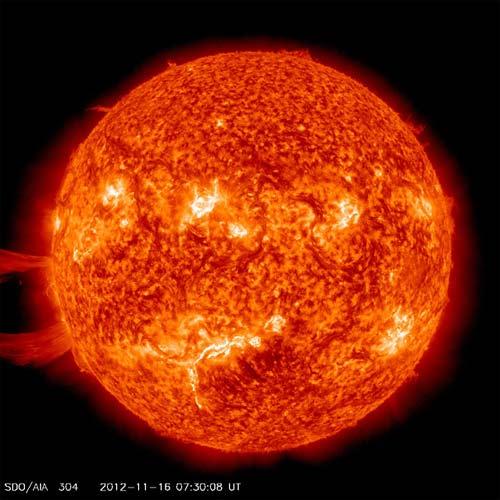 Foto del Sol por la NASA