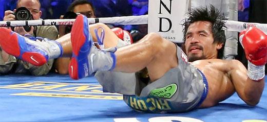 Pacquiao es derribado por Márquez en el cuarto encuentro de box