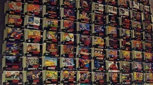 Venta de cartuchos de Super Nintendo en eBay