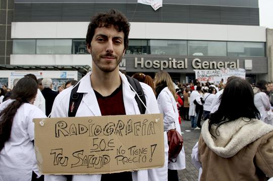 Protestas contra la privatización de la sanidad en España