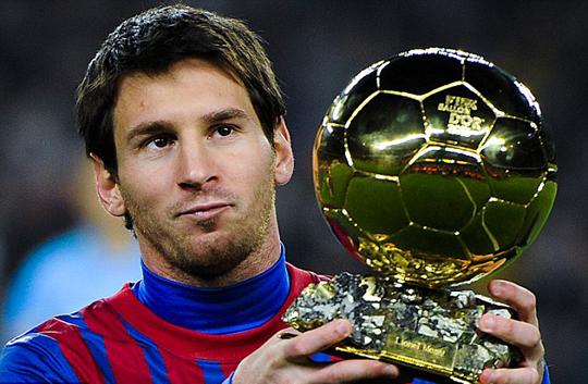 Lio-Messi-balón-de-oro. ganó su 4 balón de oro.